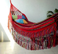 "Colombian ""Cartagena"" Corolino Fabric Hammocks - Decor Borders Only (Red Green Blue)"