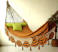 HAMMOCK COUPLES TIGER - Sprang Weave Nicamaka -TIGER Stripes (Olive & Mustard)
