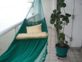 HAMMOCK COUPLES GREEN-AQUA - Sprang Weave Nicamaka