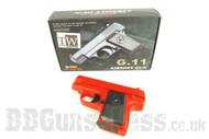 Galaxy G11 Full Metal colt 25 Pistol in red