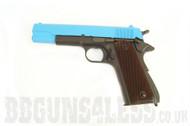 SRC SR 1911 Gas blow back pistol Full metal in blue