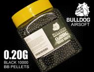 bulldog pellets 10000 x 0.20g tub in black