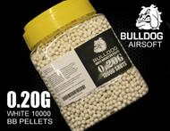 bulldog pellets 10000 x 0.20g tub in white