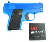 Galaxy G9 Colt 25 replica Full Metal Pistol in blue