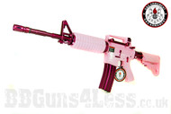 G and G Femme Fatale 16 M4A1 AEG in pink