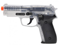 Sig Sauer P228 replica BB gun in clear finish
