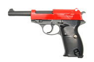 Galaxy G21 Full Metal Walther P38 in red