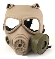 Airsoft Gas mask face mask in tan