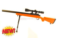 Well MB02 VSR10 Spring Airsoft Sniper Rifle in orange