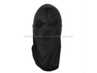 Thin 3 hole balaclava - green
