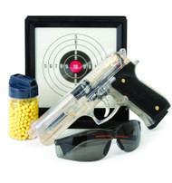 Blackviper M92 airsoft set with glasses target and pellets