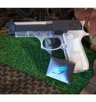 UHC M92F Beretta Electric EBB airsoft pistol in clear