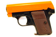 Colt 25 spring pistol in black with orange top