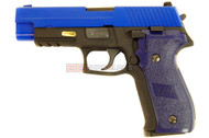 WE F Series Sig 226 with Rail GBB Pistol in blue
