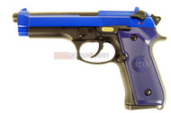 WE M92 GEN 3 GBB Airsoft Pistol in blue