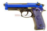 WE M92 GEN 3 GBB Airsoft Pistol in blue
