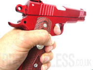 Yulong 082 Glock Style Airsoft Pistol In Metallic Red