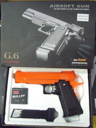 G6 A Full Metal Pistol Airsoft Gun In Orange