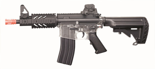 Blackviper B4811 M4 CQB Full Auto BB Gun With Navy Stock In Clear
