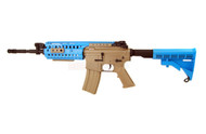 Cyma CM016 Custom M4 SIR CQB Airsoft Gun Metal in Tan & blue