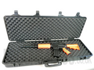 Airsoft Gun Carry Case In Tough Plastic Large Size
