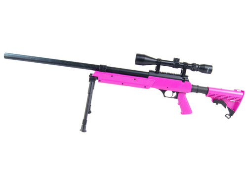 Well MB06 BB gun Airsoft Sniper rifle in Magenta