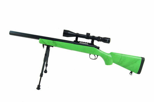 Well MB02 VSR10 Spring Airsoft Sniper Rifle in Green