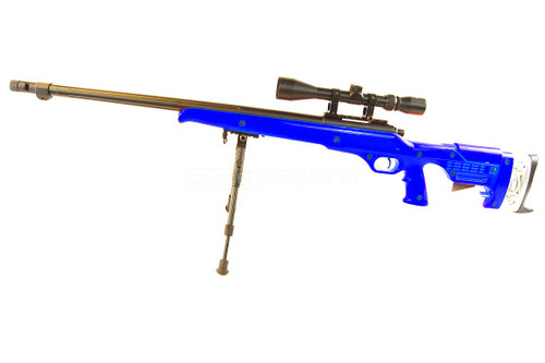 Well MB12 Custom VSR10 Airsoft Sniper Rifle in Blue