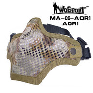 Wo Sport V1 Strike Steel Half Face Mask (Two Belt Version) AOR1