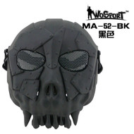 Wo Sport Desert Army Group Mask V1 (Round Mesh) Black