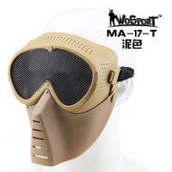 Wo Sport Small Flying Mask with Mesh Goggle (Round Mesh) Tan