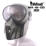 Wo Sport Simple Tactical Transformers Mask (Nylon Glasses) OD
