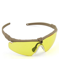BV Tactical 2.0 FRAMEWORK ANSI Z80.3 GLASSES (MUD-COLORED FRAME YELLOW LENS)