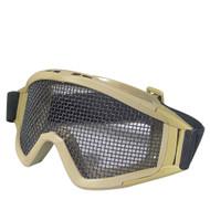 BV Tactical Desert Locust Mesh Goggles (Steel Mesh) Tan