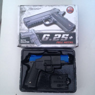 Galaxy G25H Full Scale Metal Pistol With Holster in Blue