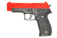 Galaxy G26 P226 Full Scale Metal Pistol with Rail in Red