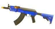 Double Eagle M901A Metal AK47 Krinkov Adjustable stock in Blue