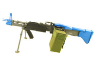 A&K MK43 Airsoft gun with Bipod AEG in Blue