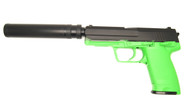 Blackviper tactical gas pistol with silencer in green