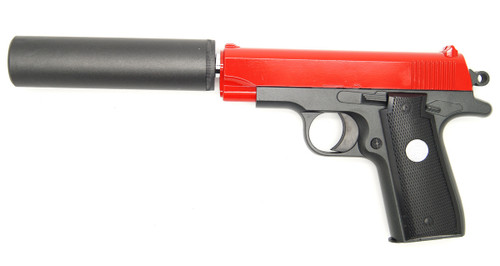 Galaxy G2A metal pistol with silencer in red