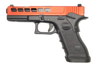Army Armament R17-K Aluminum Slide Pistol in Red