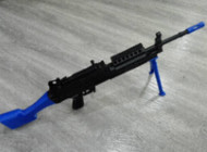 Golden Hawk M249 Spring Rifle with bipod in blue (2001)