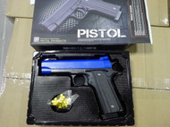 Golden Hawk M1911 Spring Pistol in blue  (2039)