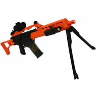 Double Eagle M41K G36 replica sniper rifle with folding stock and bipod