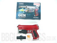 Combat 238AS pistol with Flashing light and laser in red