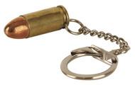9mm bullet Brass Keyring