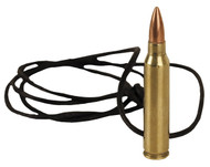556 Brass bullet leather Necklace