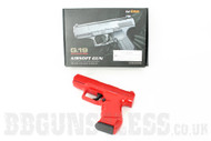 Galaxy G19 Full Metal Pistol in red