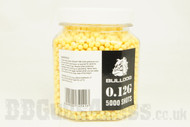 Bulldog airsoft pellets 5000 x 0.12g Tub in yellow