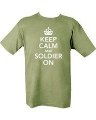 Keep Calm & Soldier On T shirt